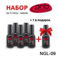 Набор 5 цветных гель-лаков PNB