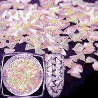 3D Чешуя дракона голографик розовый