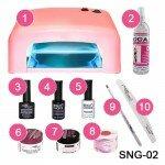 Стартовый набор для гелевого наращивания ногтей SNG-02